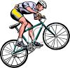 clip art image of a man popping wheelies on his bicycle clipart