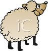 clip art illustration of a sheep clipart