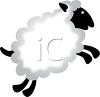 clip art illustration of a sheep leaping through the air clipart
