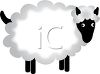 clip art illustration of a wooly sheep standing clipart
