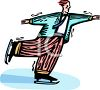 clip art image of a man ice skating clipart