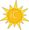 image of a sun shining in a vector clip art illustraiton clipart
