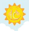 Image of a happy sun in a vector clip art illustration clipart