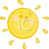 Image Of a sunshine with a smiley face in a vector clip art illustration clipart