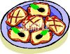 Clip Art illustration of a plate of cookies clipart