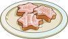 clip art image of cookies with frosting on a plate clipart