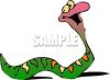 Picture of a cute happy snake smiling in a vector clip art illustration clipart