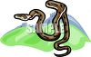 picture of a brown snake ready to strike in a vector clip art illustration clipart