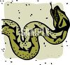 picture of a green and black snake in a vector clip art illustration clipart