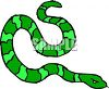 picture of a green striped snake hissing in a vector clip art illustration clipart