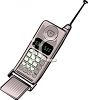 Image Of A Cell Phone In A Vector clip art illutration clipart