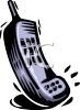 Image of a cell phone in a vector clip art illustration clipart