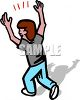 happy man celebrating clipart
