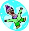 happy person jumping for joy clipart