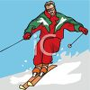 snow skiing image