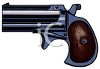 clip art image of a short barreled pistol on a white background clipart