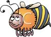 Image of a cute cartoon bumble bee flying in a vector clip art illustration clipart