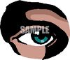 clip art illustration of a blue human eye in a vector clip art illustration clipart