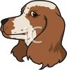 clip art illustration of the head of a cocker spaniel in a vector clip art illustration clipart