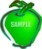 Picture Of A Green Apple In A Vector Clip Art Illustration clipart