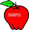 Picture Of A Red Apple With A Leafy Stem In A Vector Clip Art Illustration clipart