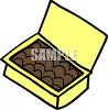 Picture Of a box of chocolate in a vector clip art illustration clipart