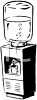Black and white drawing of an office water cooler clipart