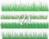 Various types of lawns or grasses clipart
