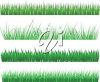 Four different types of grasses or lawns clipart