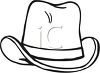 picture of a cowboy hat in black in white in a vector clip art illustration clipart