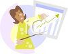 African American businesswoman giving a presentation at work clipart