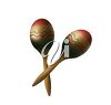 picture of a pair of maracas in a vector clip art illustration clipart