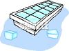 ice cube tray with ice cubes clipart