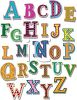 all the letters of the alphabet from A to Z clipart