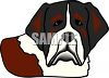 picture of a cartoon saint bernard in a vector clipart illustration clipart