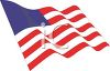 picture of an american flag in a vector clip art illustration clipart