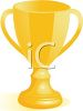picture of a golden winners cup in a vector clip art illustration clipart