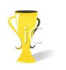 Picture of a gold cup in a vector clip art illustration clipart