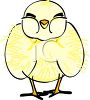 picture of a baby chick standing in a vector clip art illustration clipart