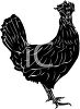 Picture of a silhouette of a rooster clipart