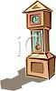picture of a grandfather clock in a vector clip art illustration clipart