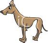 PIcture of a brown great Dane in a vector clip art illustration clipart