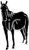 picture of a horse silhouette in a vector clip art illustration clipart