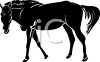 clip art illustration of a black horse in a vector clip art illustration clipart