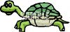 picture of a turtle cartoon in a vector clip art illustration clipart
