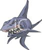 picture of an angry shark showing his teeth in a vector clip art illustration clipart