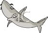 picture of a shark swimming with his eyes closed in a vector clip art illustration clipart