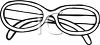 picture of a pair of eyeglasses in a vector clip art illustration clipart