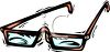 picture of a pair of reading glasses in a vector clip art illustration clipart