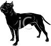 picture of a black dog standing in a vector clip art illustration clipart